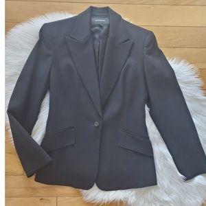 Express black shimmer single button blazer sz 1/2